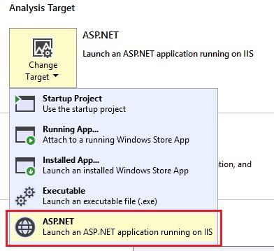 Choosing ASP.NET as the target
