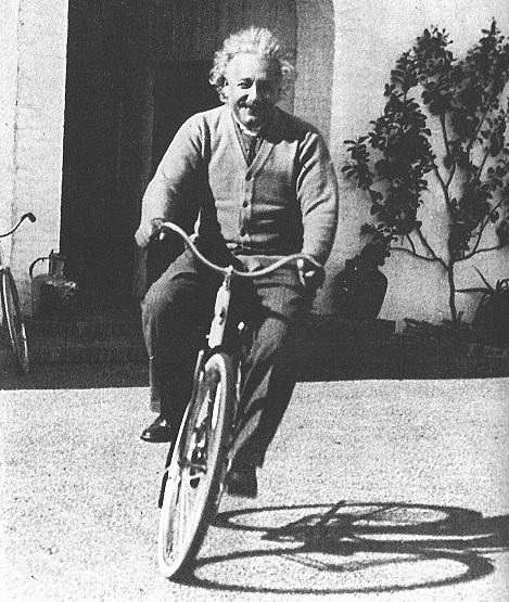 When not riding bicycles or coming up with the equation for the speed of light, Einstein would explain complex theories in a way that people like you and me would understand.
