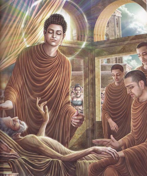 Leadership Lessons of the Buddha - the Buddha visits and comforts a dying man