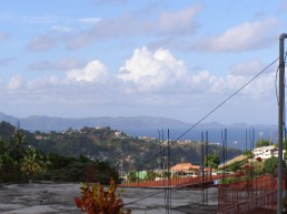 Bequia visible from his terrace