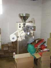 the machine to make the tea bags