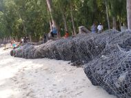 Gabions are not the prettiest way to protect the coast