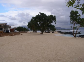 An example of a new resort where sand had to be imported...
