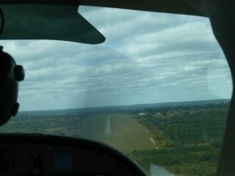 About to land