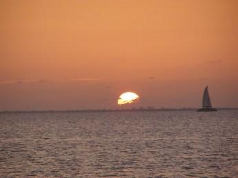 Sunset over the lagoon