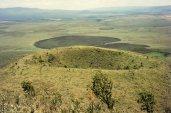 Mt Longonot - line of volcanoes