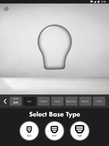 Bulb Configurator - Select Base Type