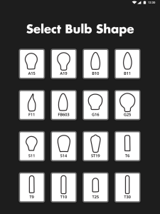 Bulb Configurator - Select Glass Shape