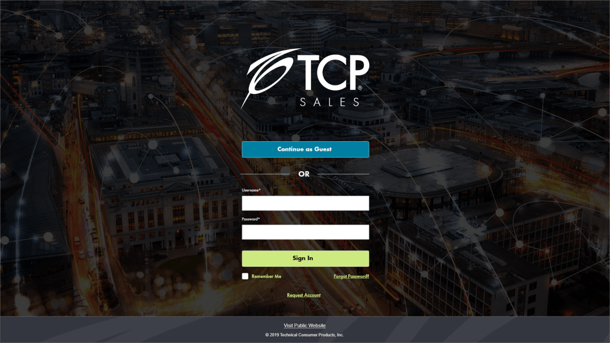 TCP Sales Web App