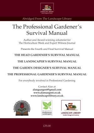 The Professional Gardeners Manual Back Cover