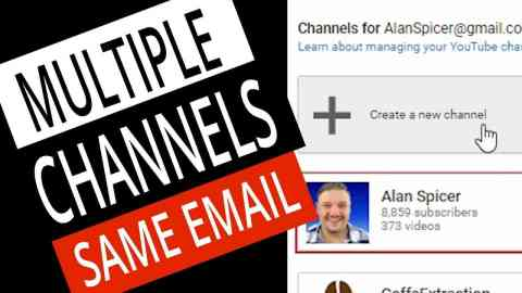 How To Make A SECOND YouTube Channel with the SAME EMAIL