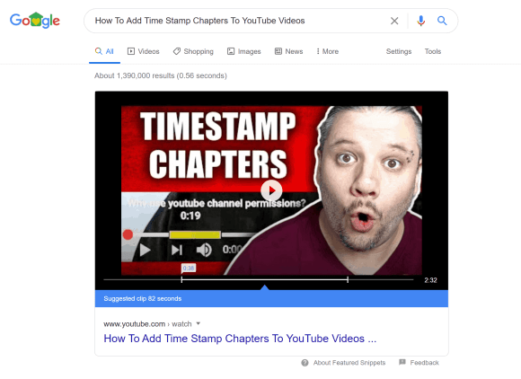 Add Timestamp Chapters To YouTube Videos and Win In Search 1