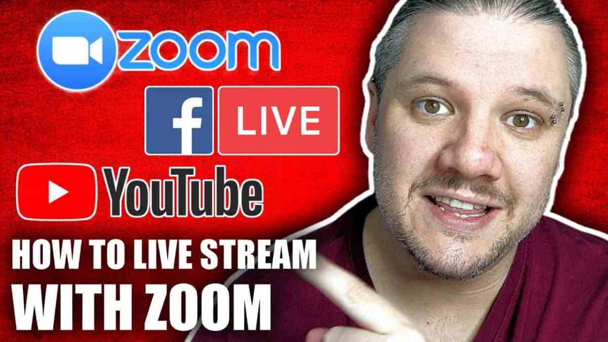 HOW TO LIVE STREAM WITH ZOOM 1