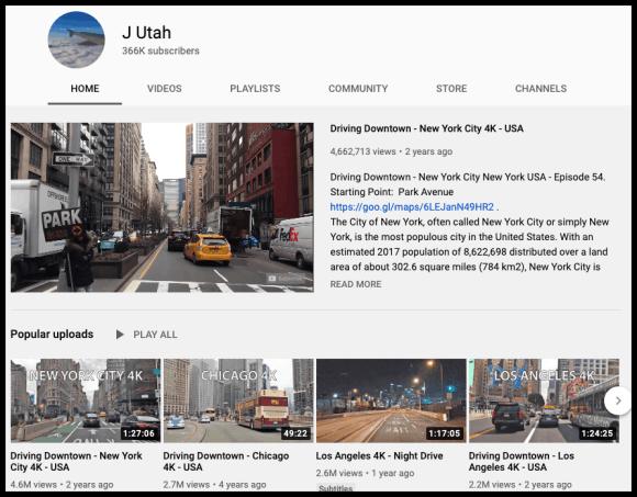 J Utah channel page