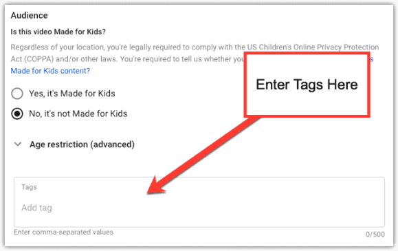 adding tags further instruction