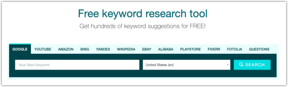 keyword.io autocomplete search engines