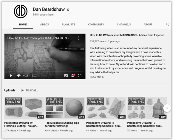 Dan Beardshaw Channel Page