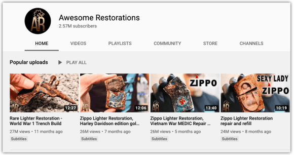 Awesome Restorations Channel Page