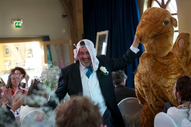 How (not) to dance with a camel (photo: a wedding guest)