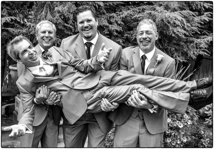 Dan with his groomsmen