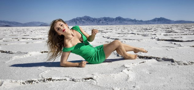 Camille in the Bonneville Salt Flats