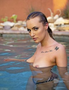 Kailey in the pool in Tucson. Perfect.