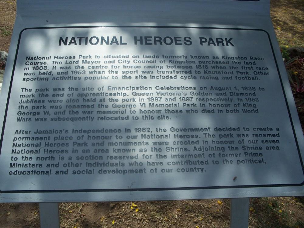 Jamaica's Park for NationalHeroes (1/6)