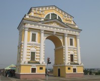 Archway on the banks of the Angara