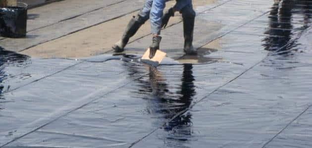 العازل المطاطي للاسطح وطرق العزل المائي فوق البلاط