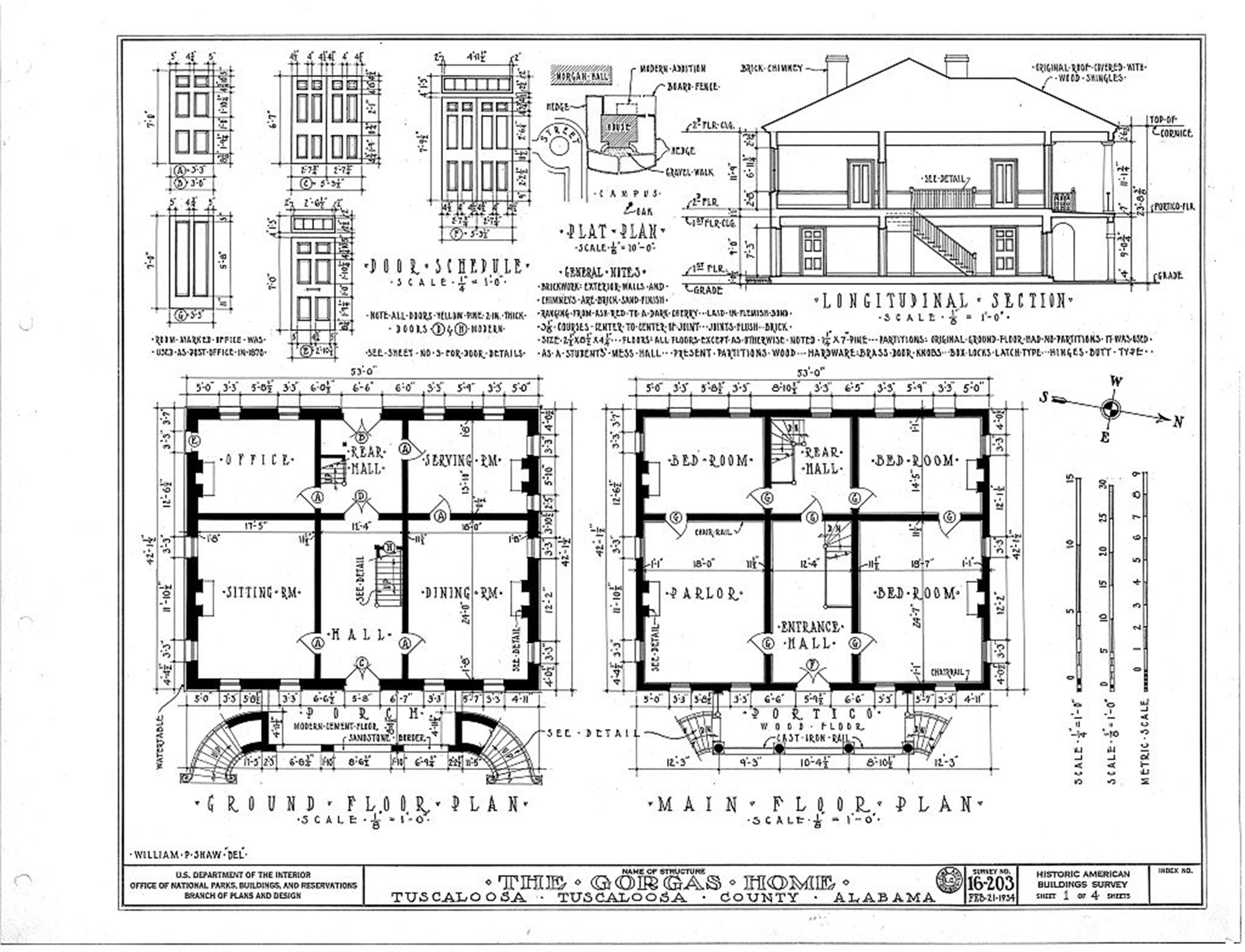 Interior Floor Plan Gorgas Alabama Architecture