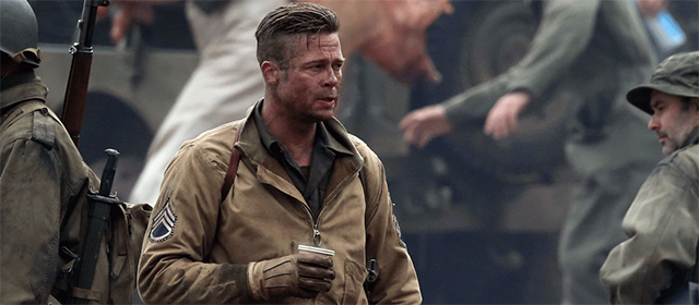 Brad Pitt dans Fury (2014)