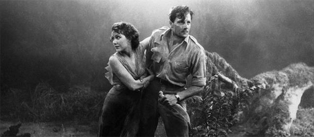 Fay Wray et Joel McCrea dans Les chasses du comte zaroff (1932)