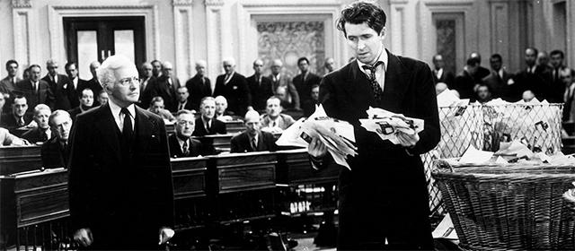 Claude Rains et James Stewart Mr Smith au Sénat (1940)