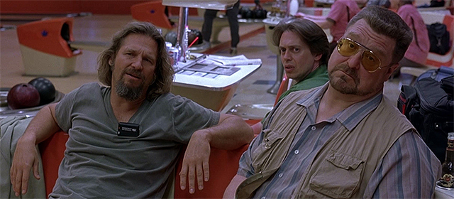 Jeff Bridges, Steve Buscemi et John Goodman dans The Big Lebowski (1998)
