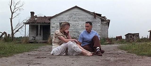 Robin Wright et Tom Hanks dans Forrest Gump (1994)