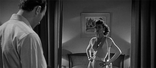 Richard Kiley et Jean Peters dans Le Port de la Drogue (1952)