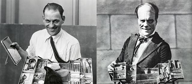 Lon Chaney avant et après sa transformation (1925)