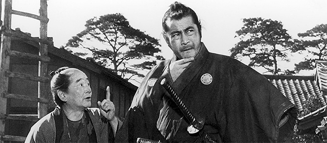 Toshirô Mifune dans Yojimbo (1961)