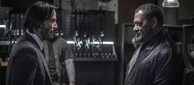 Keanu Reeves et Laurence Fishburne dans John Wick 2 (2017)