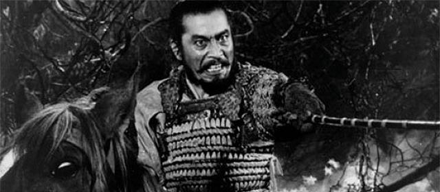 Toshirô Mifune dans Le Château de l'Araignée (1957)