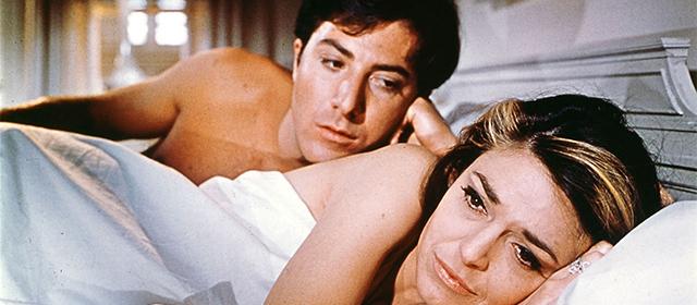 Dustin Hoffman et Anne Bancroft dans Le Lauréat (1967)