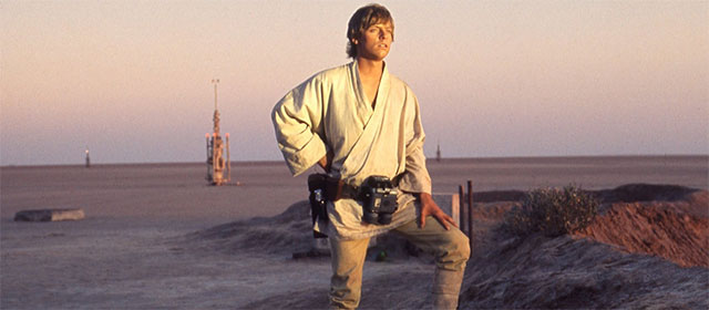 Mark Hamill dans Star Wars Episode IV : Un Nouvel Espoir (1977)