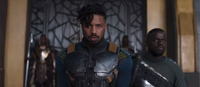 Michael B. Jordan et Daniel Kaluuya dans Black Panther (2018)