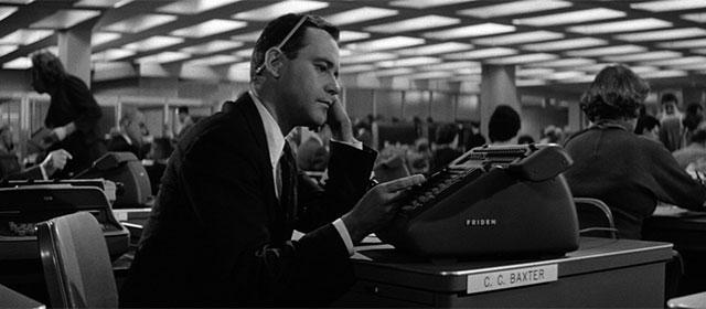 Jack Lemmon dans La Garçonnière (1960)