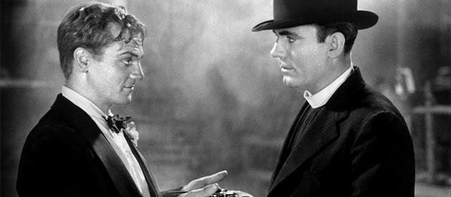 James Cagney et Pat O'Brien dans Les Anges aux figures sales (1938)