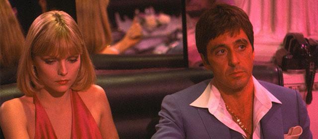 Michelle Pfeiffer et Al Pacino dans Scarface (1983)