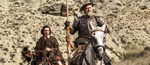 Adam Driver et Jonathan Pryce dans L'Homme qui tua Don Quichotte (2018)