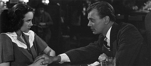 Teresa Wright et Joseph Cotten dans L'Ombre d'un doute (1943)