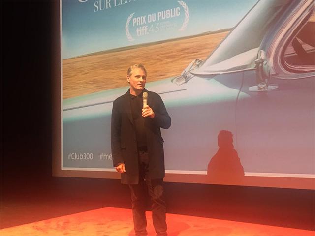 Viggo Mortensen présentant une avant-première de Green Book au Forum des Images