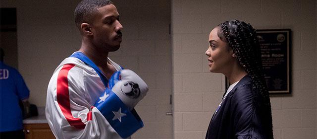 Michael B. Jordan et Tessa Thompson dans Creed II (2019)